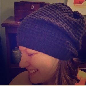 TWO Ribbed Beanies (different colors)